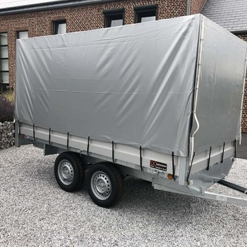 Remorque non freiné plateau alu Double Essieux 750KG - 300/150
