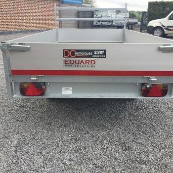 Remorque non freiné EDUARD plateau alu Double Essieux 750KG - 310/160