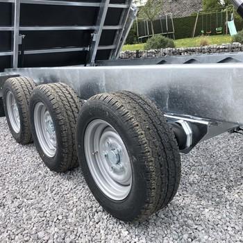 Twin Trailer TRIDAX 35 - 40 Rehausses Alu 3 essieux !