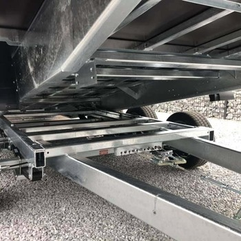 HAPERT remorque porte-engin HT basculant 3 essieux