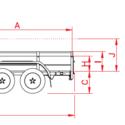 ANSSEMS Remorque Alu 750KG non freiné BSX - 251/130