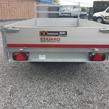 Remorque non freiné EDUARD plateau alu Double Essieux 750KG - 260/150