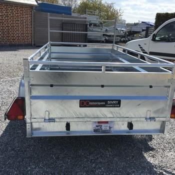 Remorque LIDER Galva double essieux
